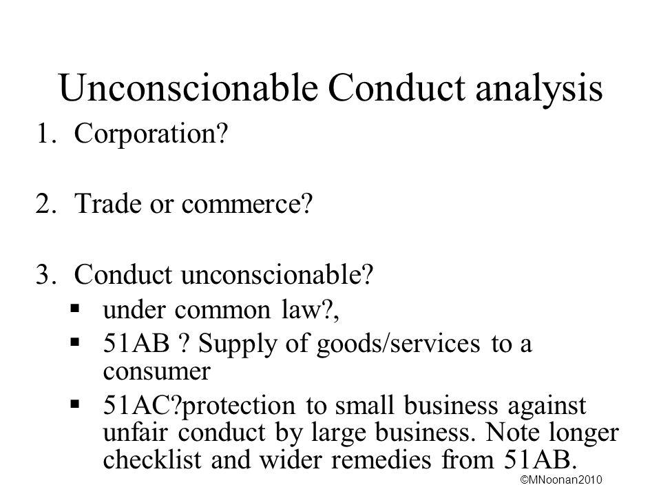 Unconscionable Conduct analysis