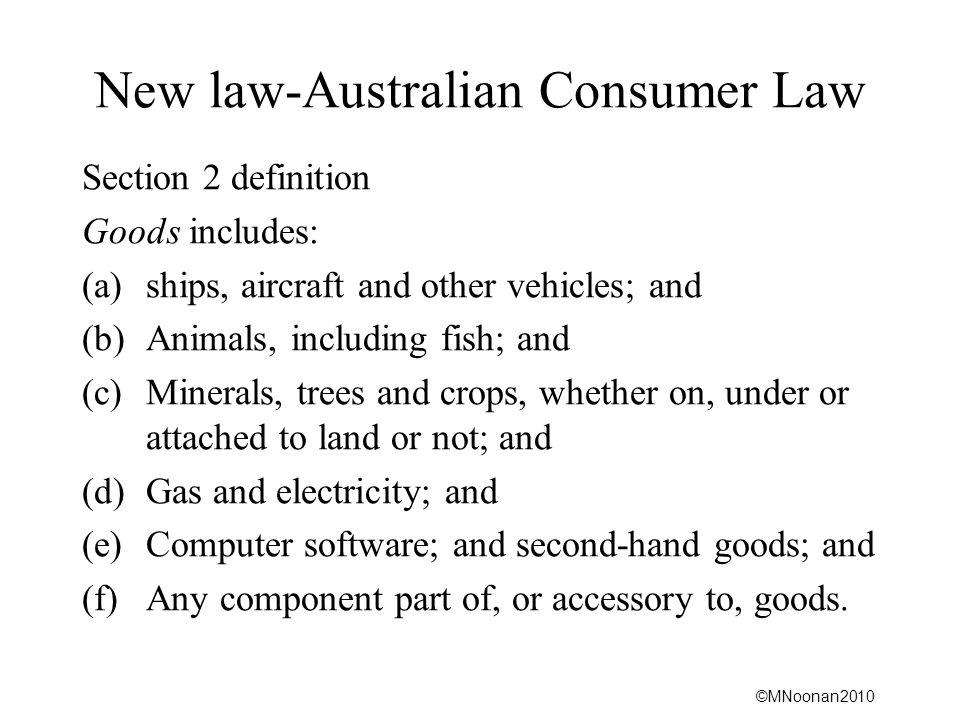 New law-Australian Consumer Law