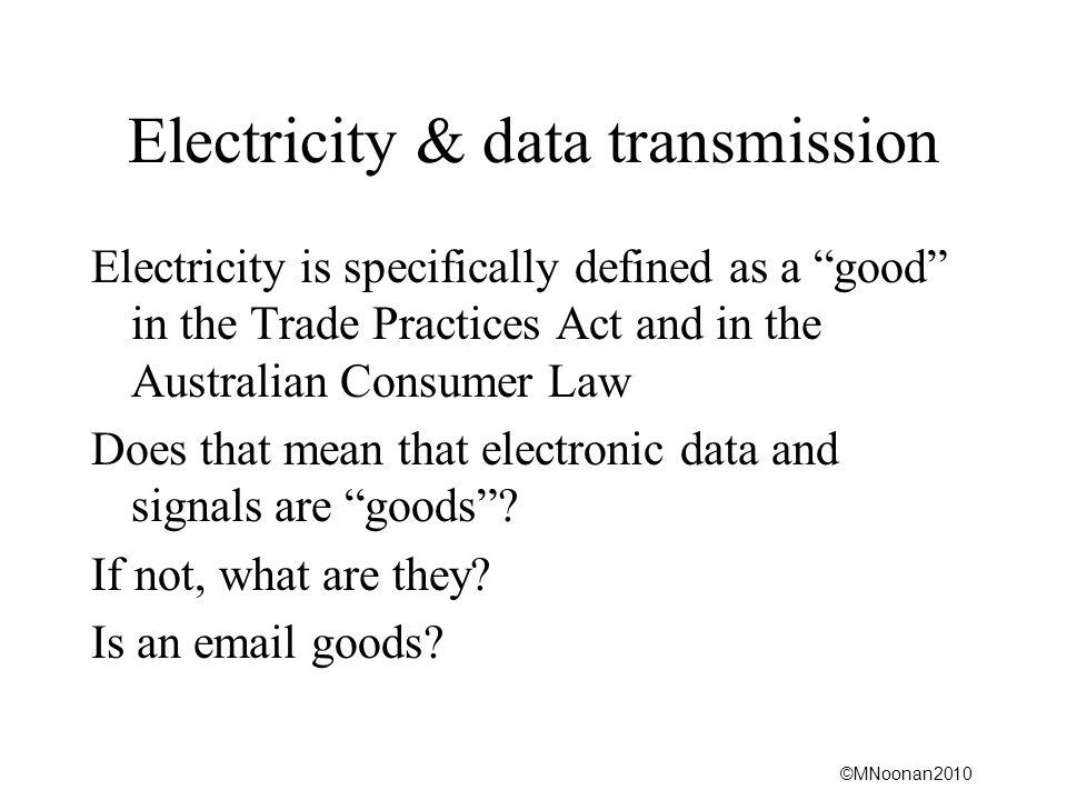 Electricity & data transmission