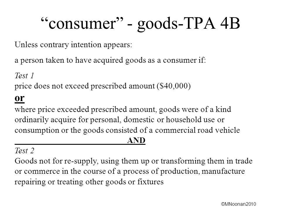 consumer - goods-TPA 4B