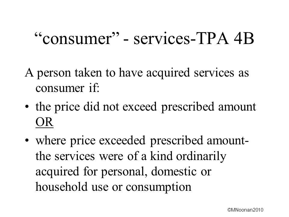 consumer - services-TPA 4B