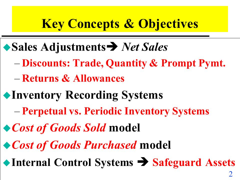 Key Concepts & Objectives
