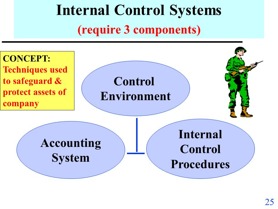 Internal Control Systems (require 3 components)