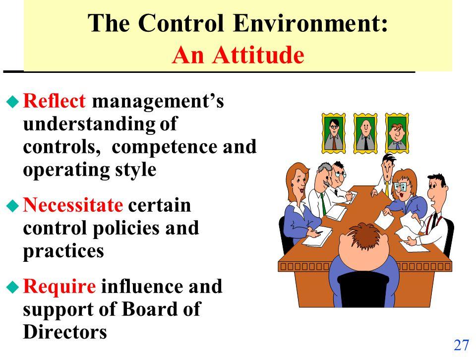 The Control Environment: An Attitude