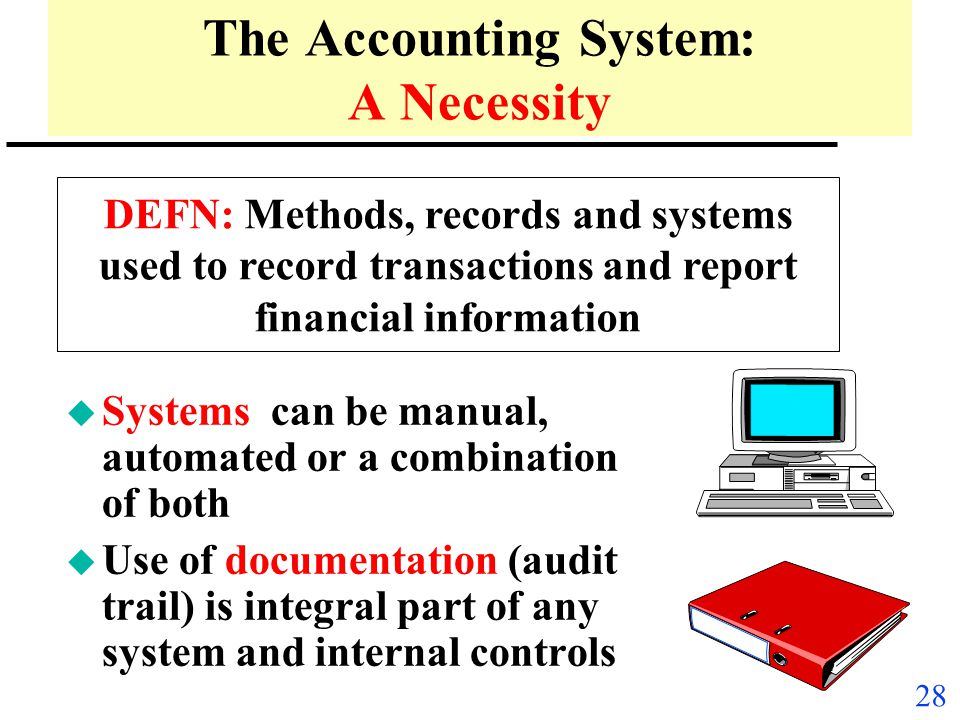 The Accounting System: A Necessity