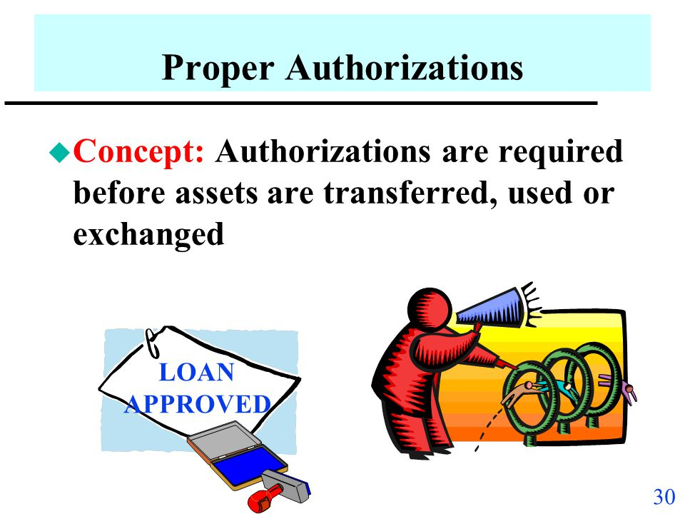 Proper Authorizations