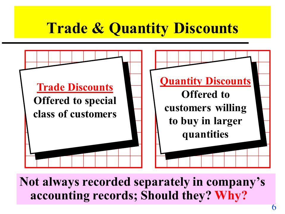 Trade & Quantity Discounts