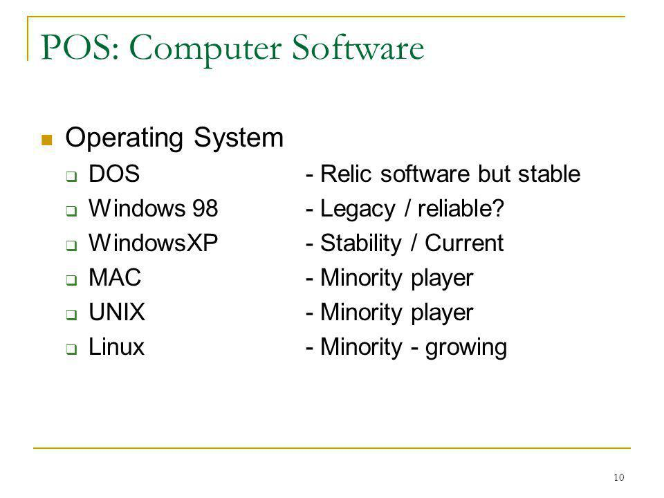 POS: Computer Software