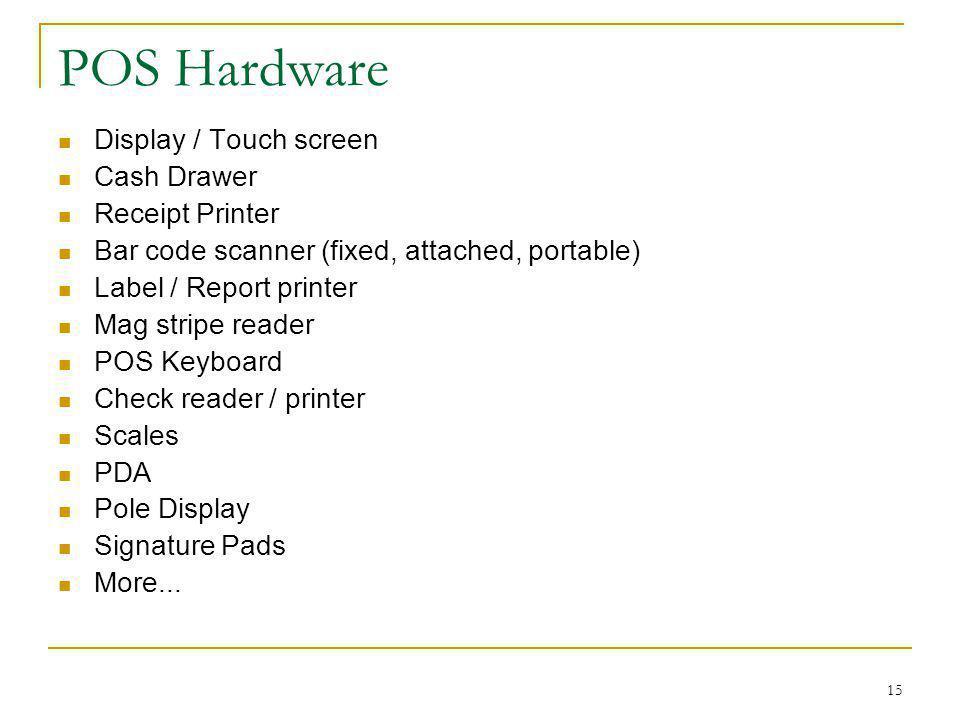POS Hardware Display / Touch screen Cash Drawer Receipt Printer
