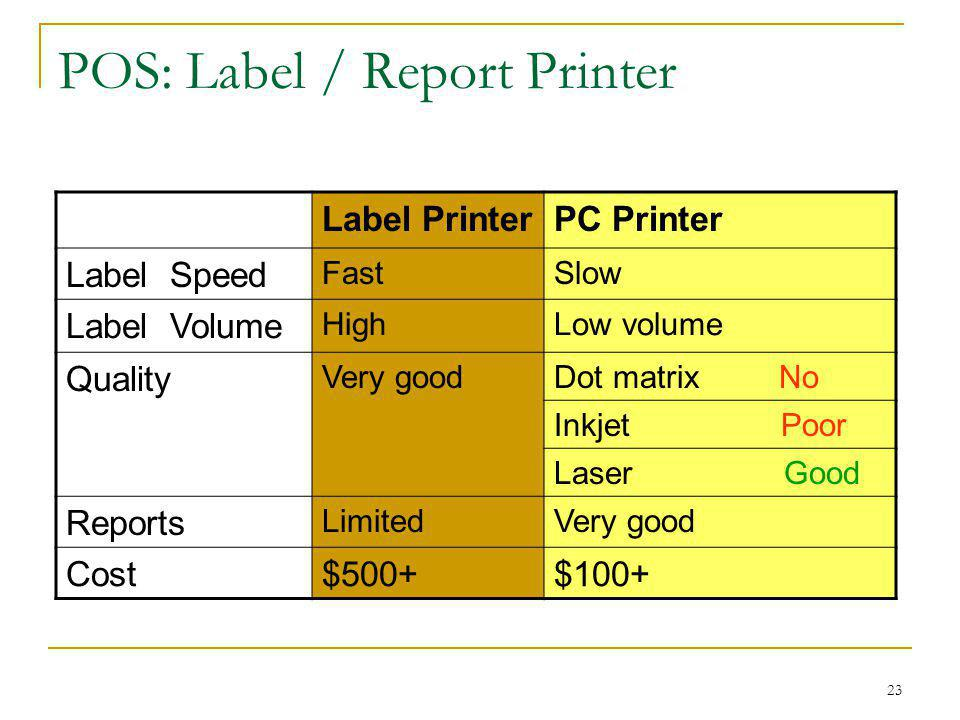 POS: Label / Report Printer