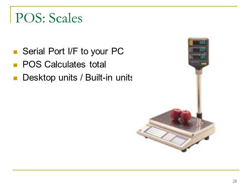POS: Scales Serial Port I/F to your PC POS Calculates total