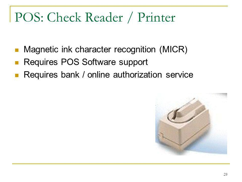 POS: Check Reader / Printer