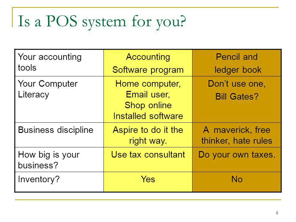 Is a POS system for you Your accounting tools Accounting