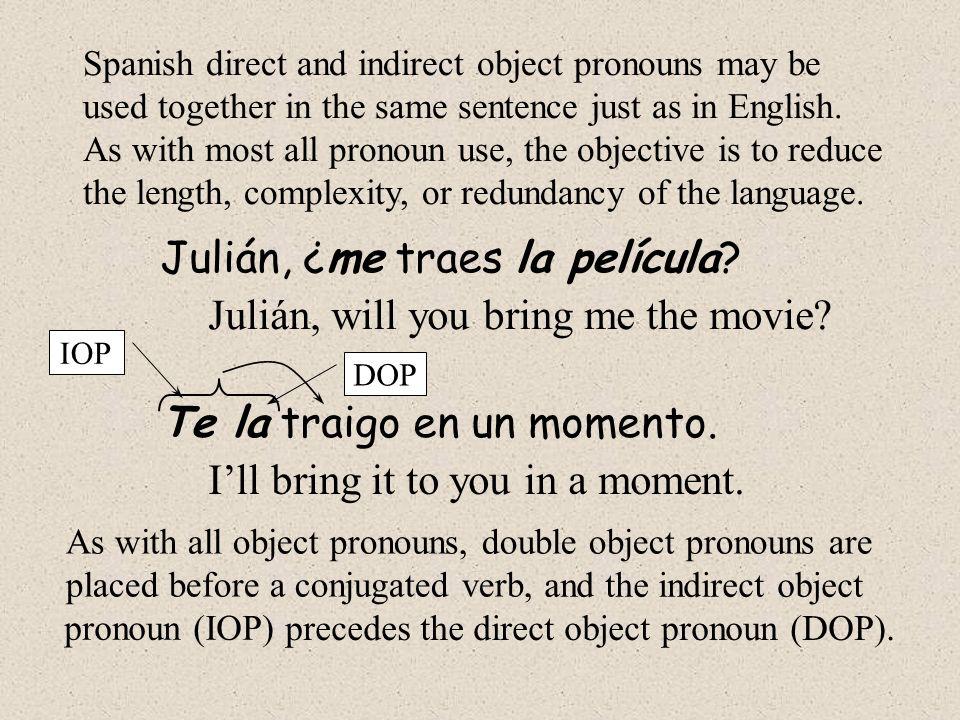 Julián, ¿me traes la película Julián, will you bring me the movie