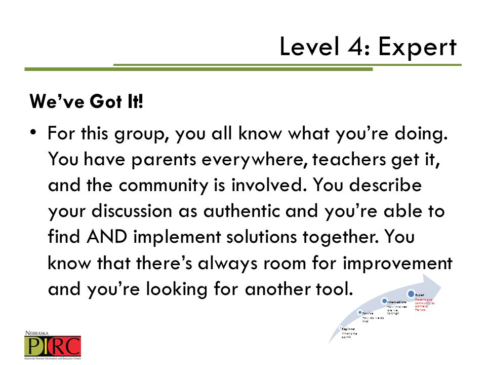 Level 4: Expert We've Got It!