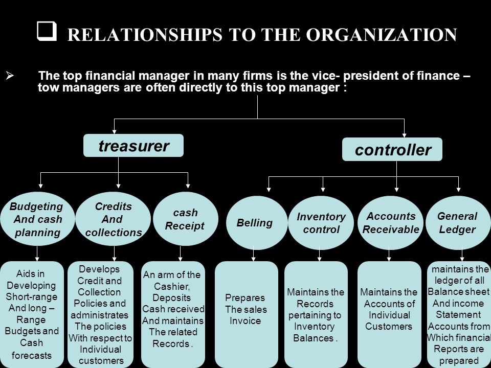 RELATIONSHIPS TO THE ORGANIZATION