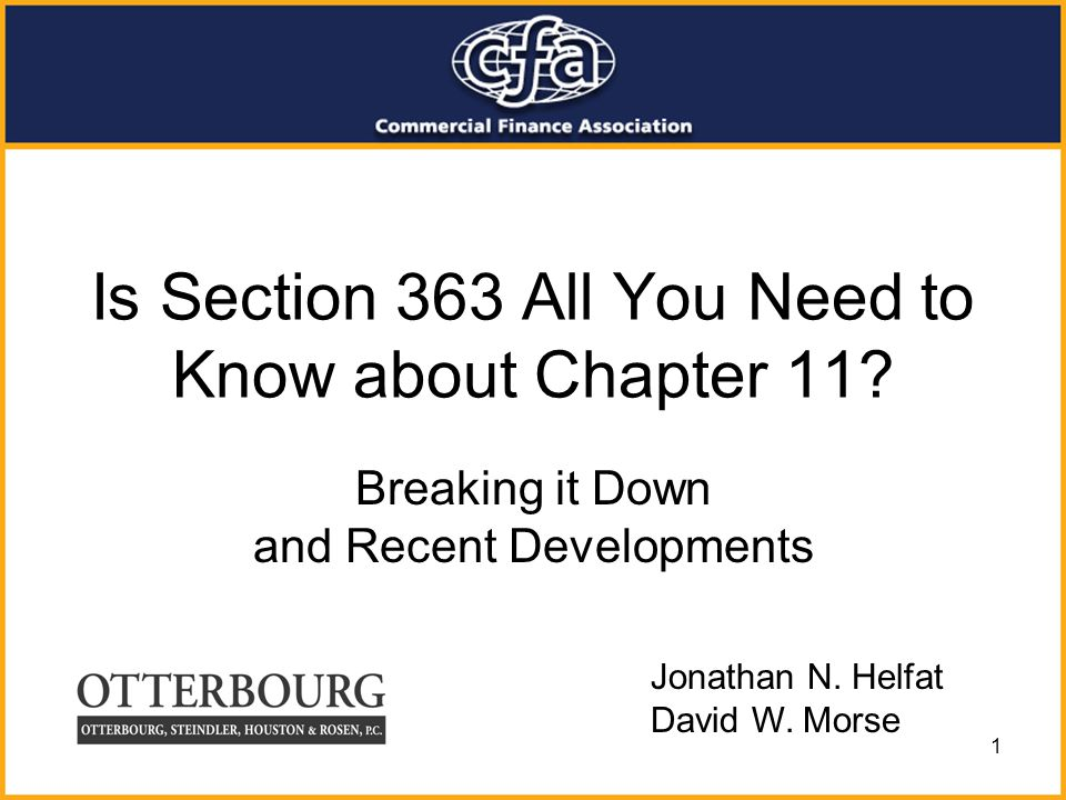 Is Section 363 All You Need to Know about Chapter 11