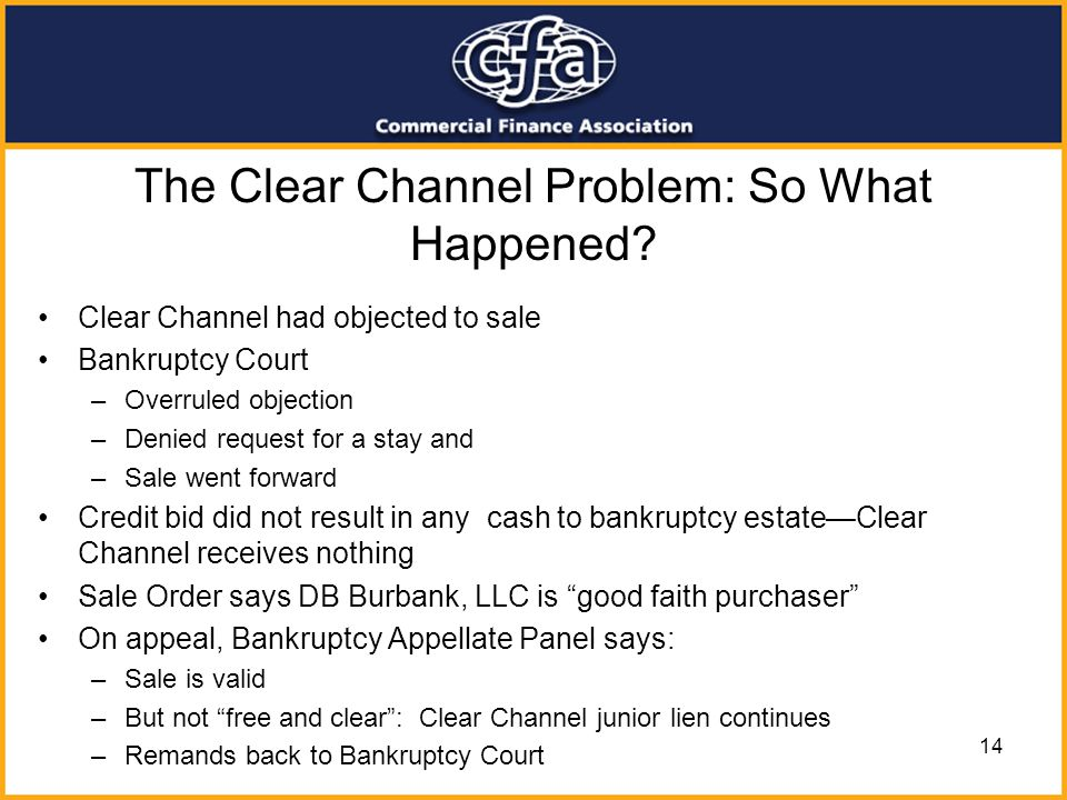 The Clear Channel Problem: So What Happened