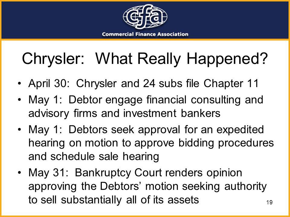 Chrysler: What Really Happened