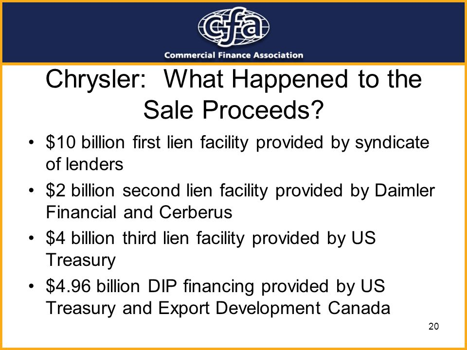 Chrysler: What Happened to the Sale Proceeds
