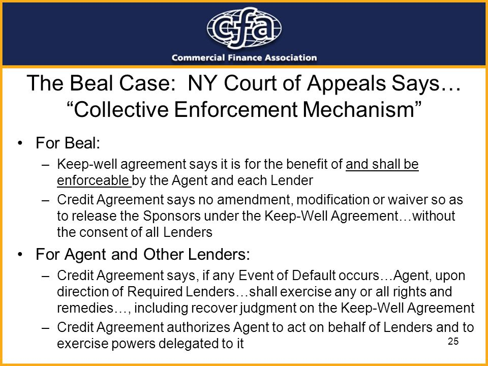 The Beal Case: NY Court of Appeals Says… Collective Enforcement Mechanism