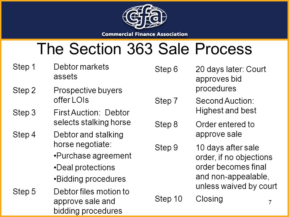 The Section 363 Sale Process