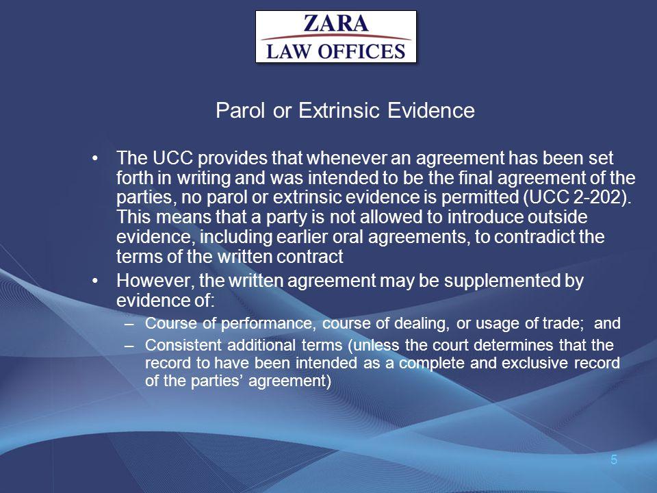Parol or Extrinsic Evidence