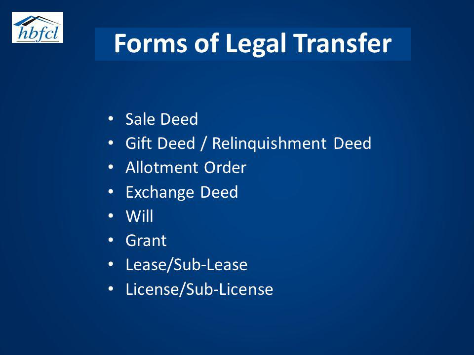 Forms of Legal Transfer