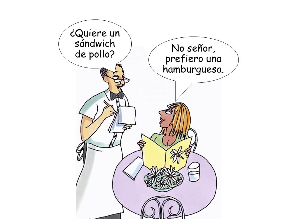 ¿Quiere un sándwich de pollo