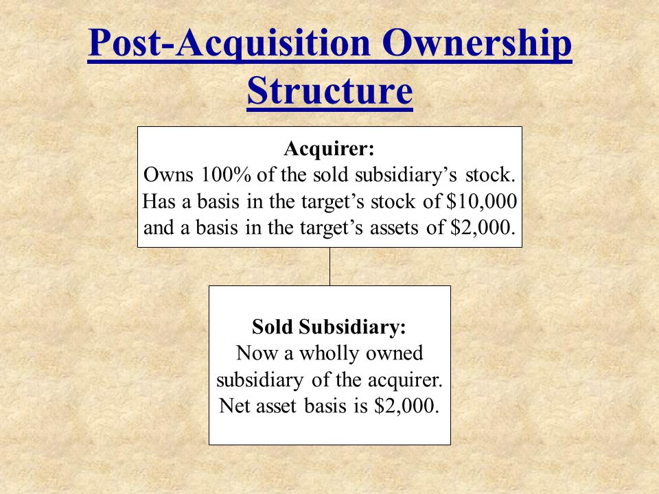 Post-Acquisition Ownership Structure