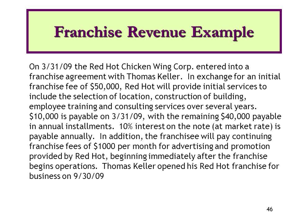 Franchise Revenue Example