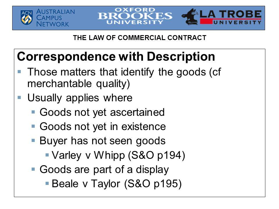 Correspondence with Description
