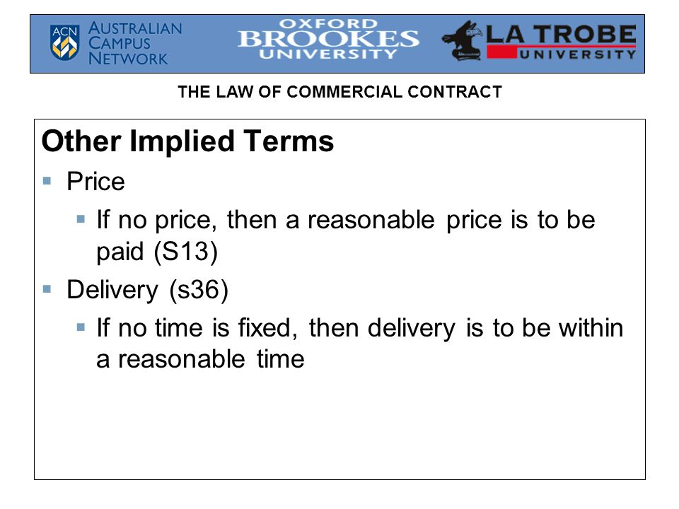 Other Implied Terms Price