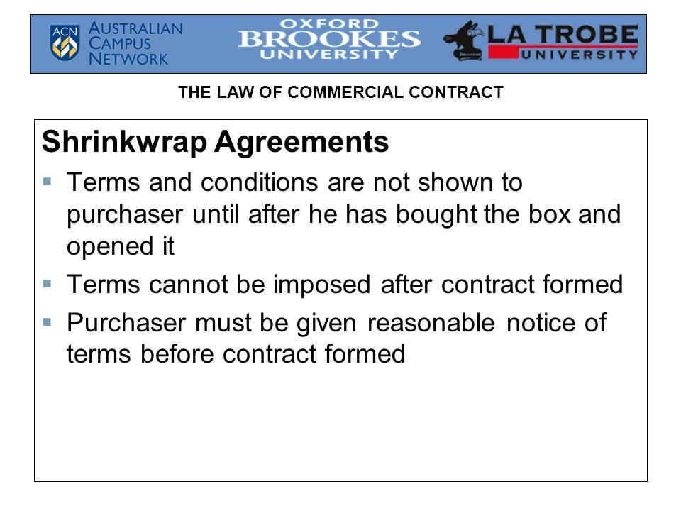 Shrinkwrap Agreements