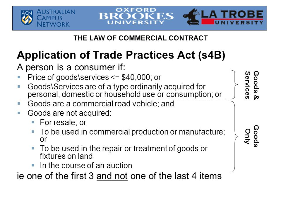 Application of Trade Practices Act (s4B)
