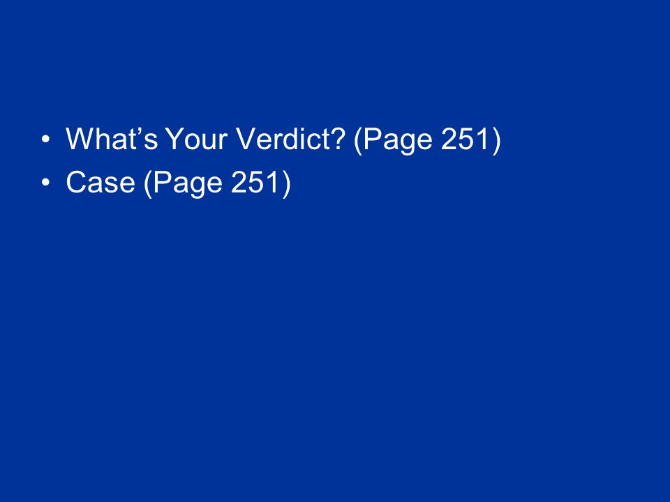 What's Your Verdict (Page 251)
