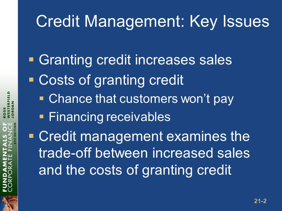 Components of Credit Policy