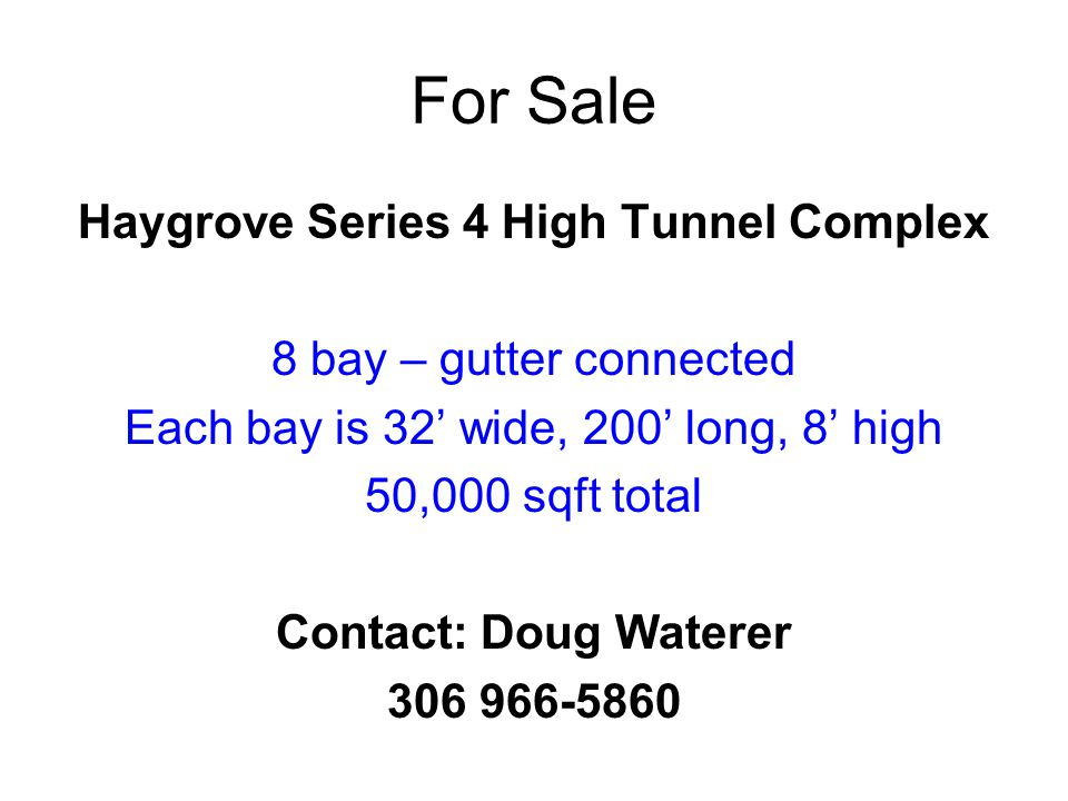 Haygrove Series 4 High Tunnel Complex