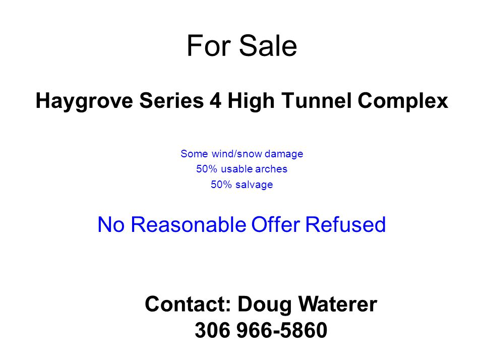 Haygrove Series 4 High Tunnel Complex