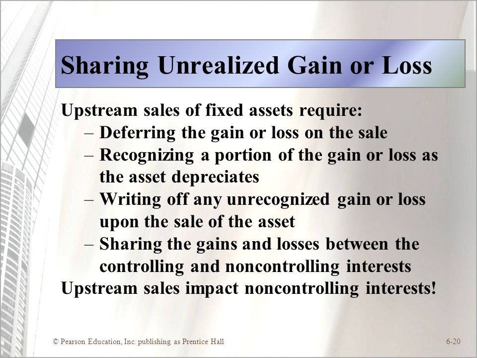 Sharing Unrealized Gain or Loss