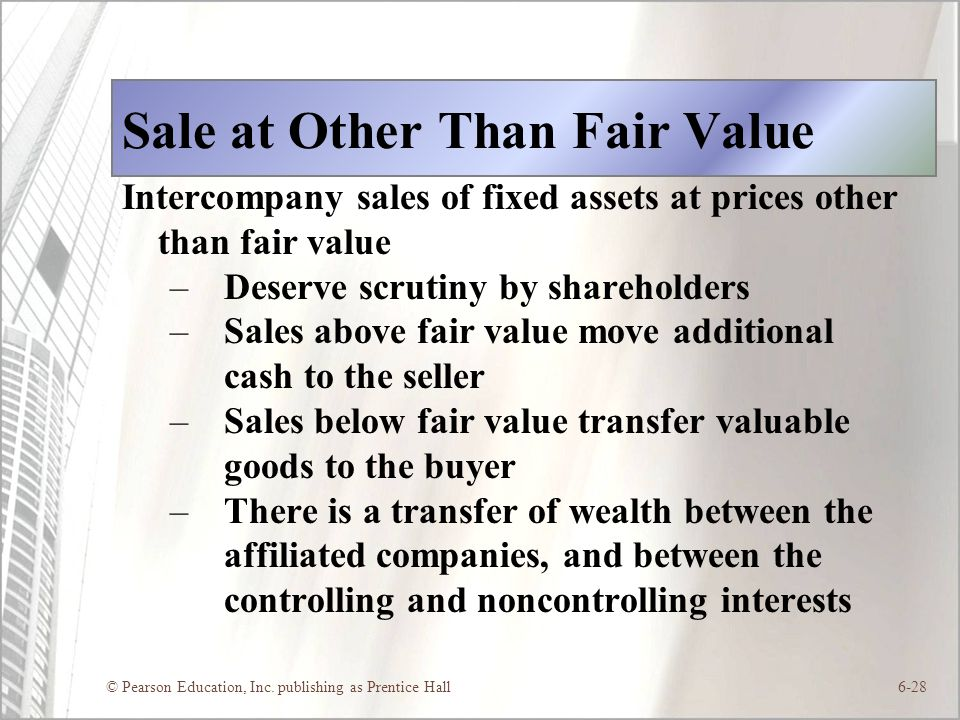Sale at Other Than Fair Value