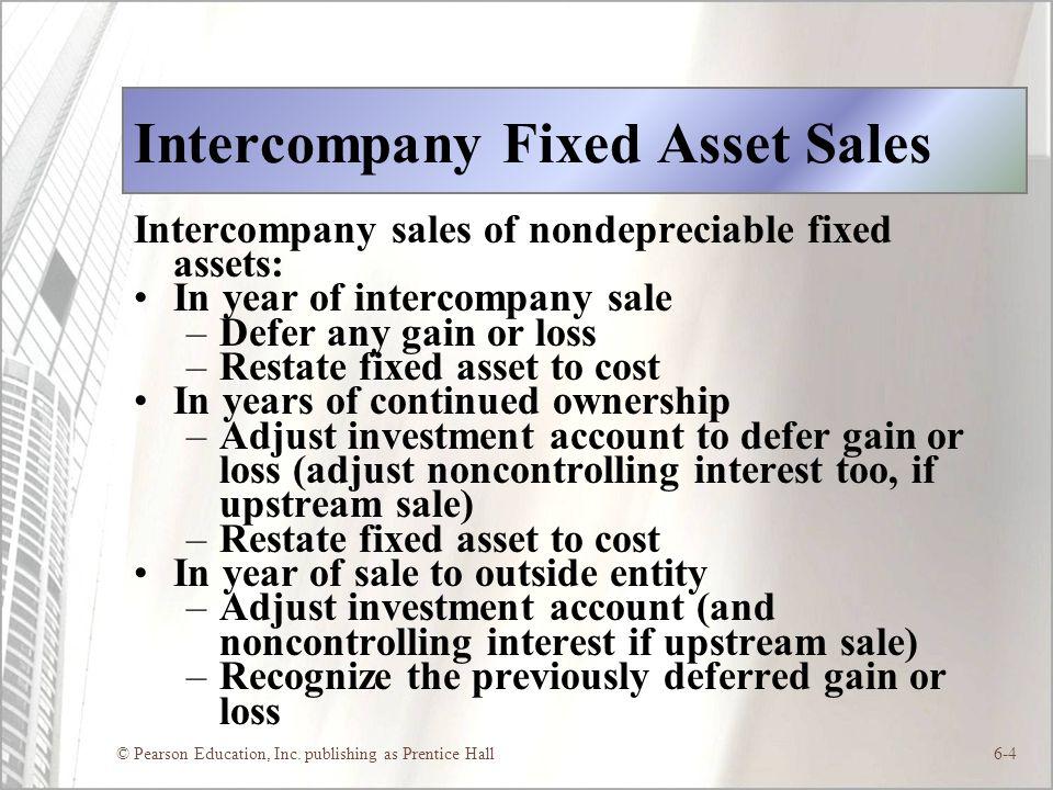 Intercompany Fixed Asset Sales