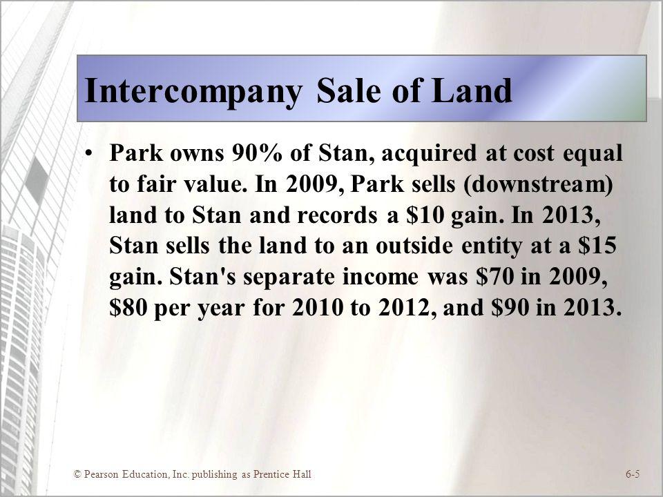 Intercompany Sale of Land