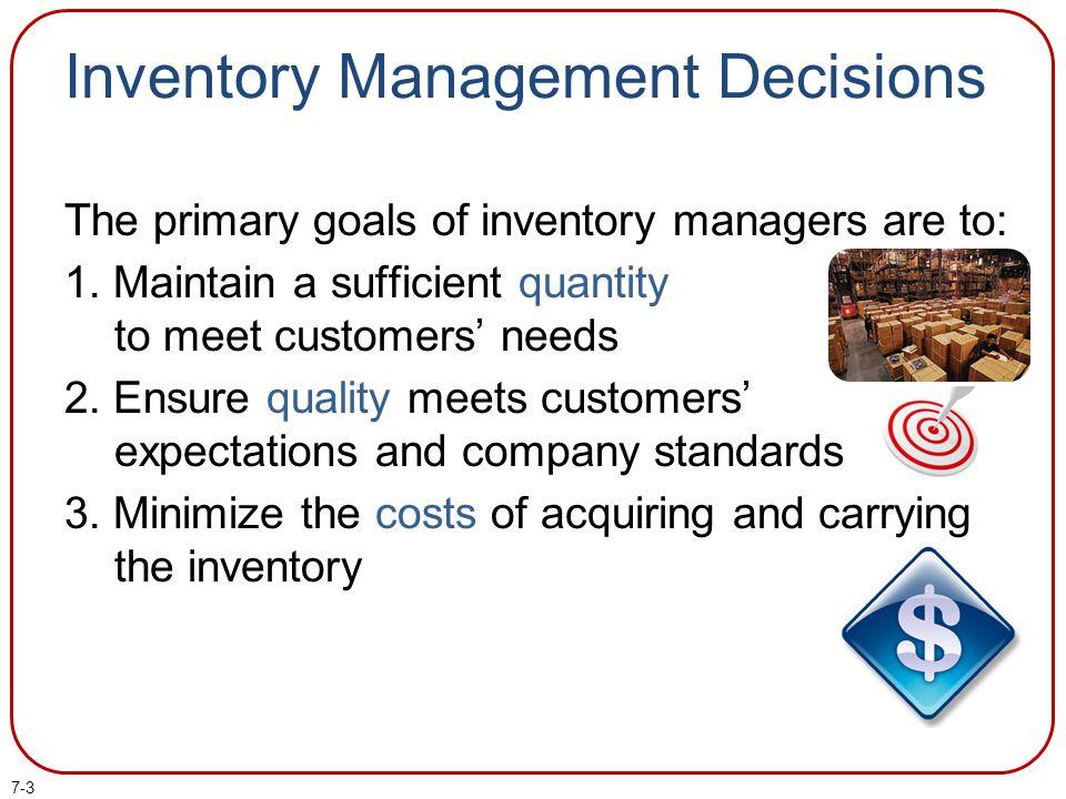 Inventory Management Decisions