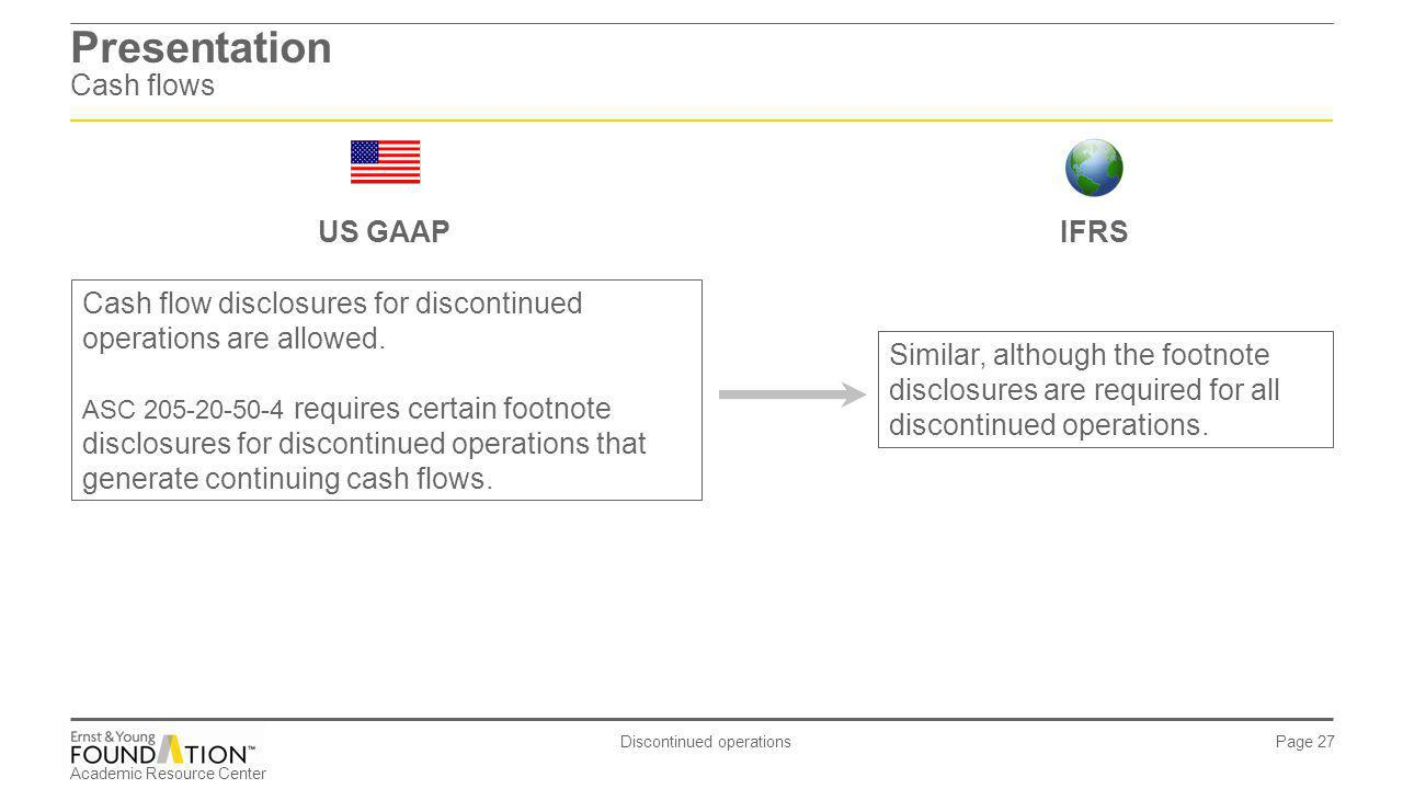Presentation Cash flows