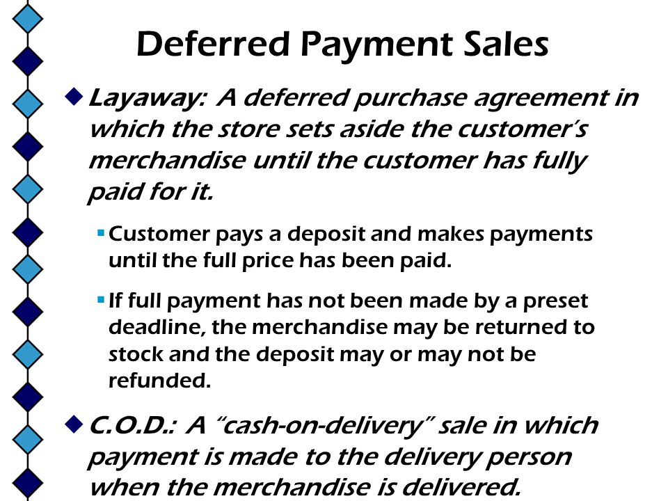 Deferred Payment Sales