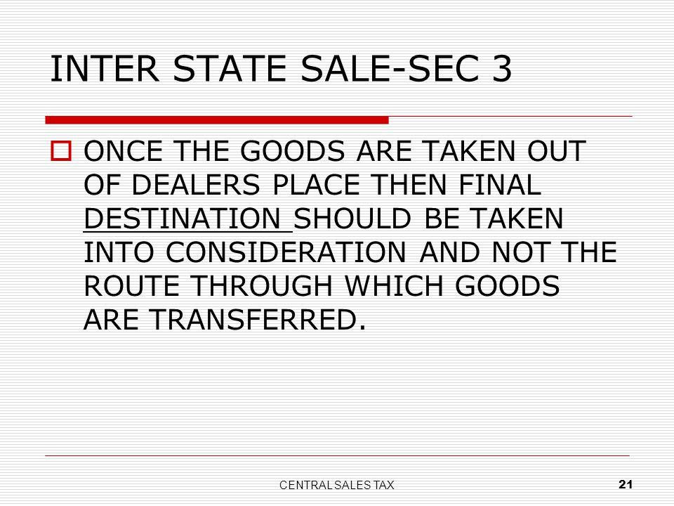 INTER STATE SALE-SEC 3