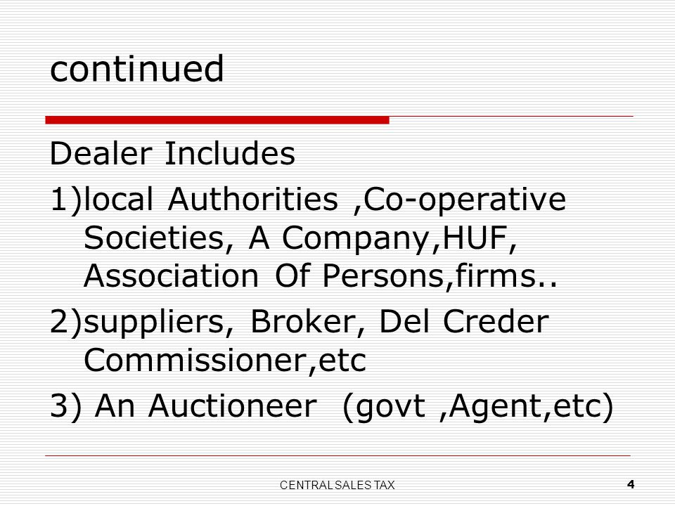 continued Dealer Includes