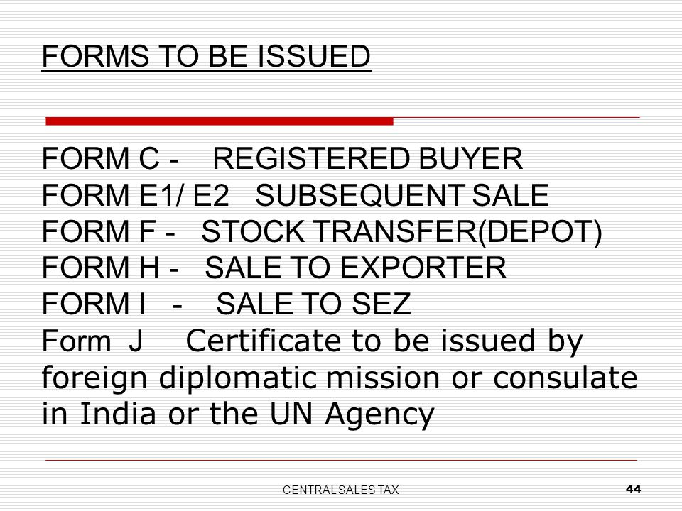 FORM C - REGISTERED BUYER FORM E1/ E2 SUBSEQUENT SALE