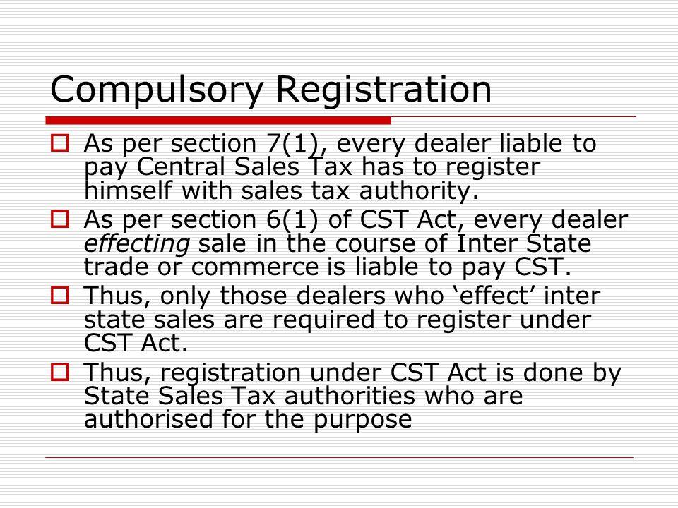 Compulsory Registration